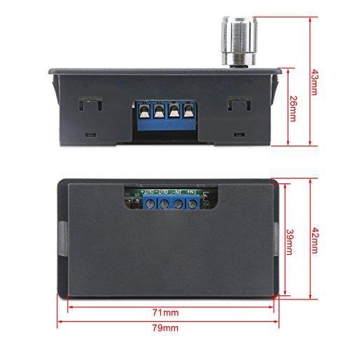 Constant Current Buck Converter, DROK Numerical Control Voltage Regulator DC-DC 4.5-23V 12v to 0-20V 9v 5v 2A Step Down Transformer Module Volt Stabilized Power Supply Board with LCD Display by DROK (Image #7)