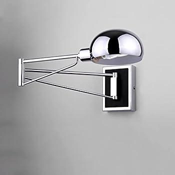 Modern Folding Led Wall Lamp Swing Arm Metal Chrome