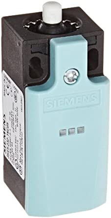 Siemens 3SE5 232-1KC05 International Limit Switch Complete Unit, Plastic Enclosure, 31mm Width, Rounded Plunger, 1 Yellow LED, 1 Green LED, Slow Action Contacts, 1 NO + 2 NC Contacts, 24VDC LED Voltage