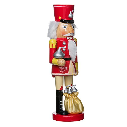 Kurt Adler Hershey Kisses Soldier Nutcracker, 14-Inch