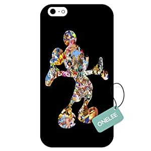 Onelee(TM) - Customized Disney Mickey Mouse Apple iPhone 6 TPU Case Cover - Black 05