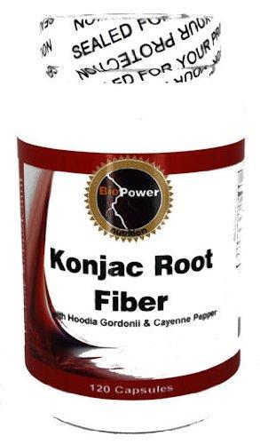Fibre racine de konjac # 700mg 1600mg avec Hoodia et poivre de Cayenne 150mg - 120 Capsules Nutrition BioPower