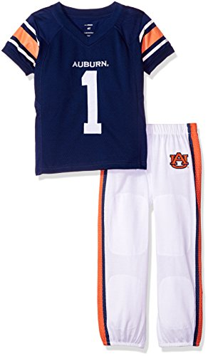 Auburn Tigers Child Uniform (NCAA Auburn Tigers Boys Toddler/Junior Football Uniform Pajamas , Size 5T, Navy/White)