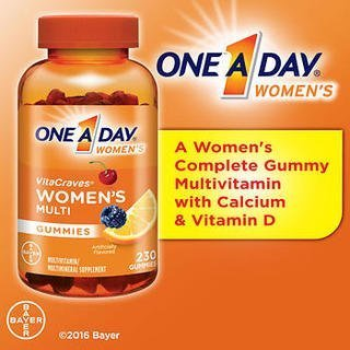 One A Day Women s Vitacraves, 1 Pack of 230 Count