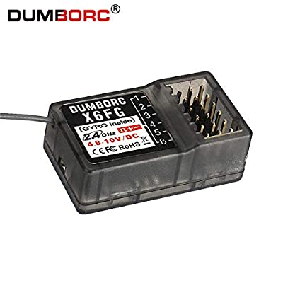 DUMBORC 2.4G 6CH Gyro Inside Receiver X6FG for RC Car Boat for DUMBORC X4 X6 Transmitter (X6FG): Toys & Games