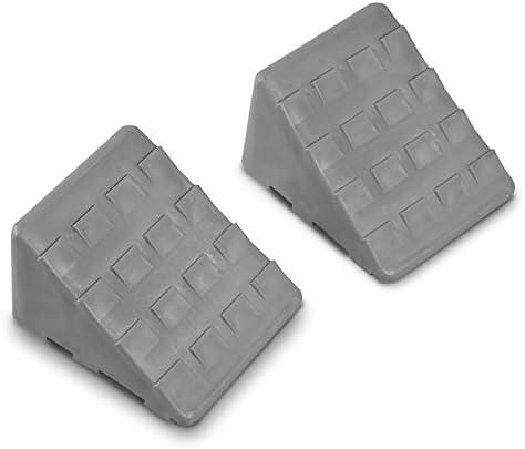 Siehe Beschreibung 2er Set Bremskeile aus robustem Kunststoff ideal für alle Fahrzeuge - Wohnmobil Keil Standkeil Ausgleichskeil Auffahrkeil Wohnwagen Unterlegkeil