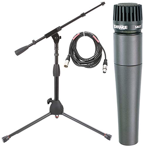 Shure SM57 Instrument Mic Pack with Short Stand and Cable