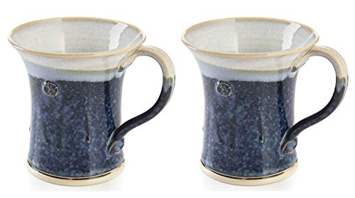 CASTLE ARCH POTTERY Handmade Irish Coffee Tea & Beer Mugs. Set of Two Hand-Thrown Cups (Hampton ()