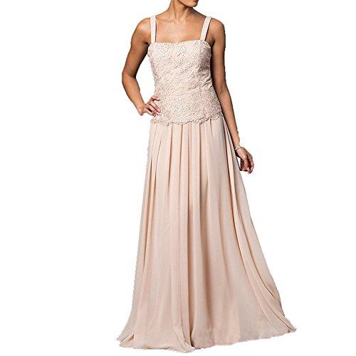 Kleider lange HWAN Jacken Wraps Braut mit formale Kleid Chiffon Mutter der Blau Spitze PqUq0vX