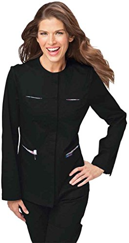 koi Stretch Mariah Jacket - Black (L) (Uniform Nursing Jacket)