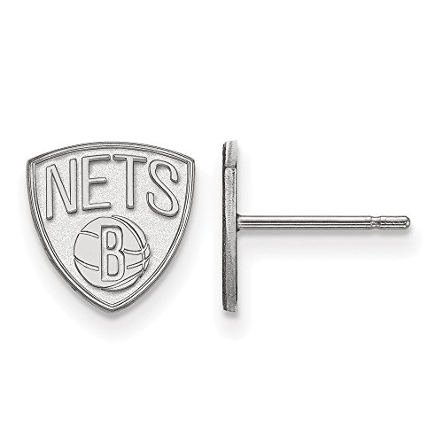 Brooklyn Nets Silver Earrings, Silver Nets Earrings, Nets