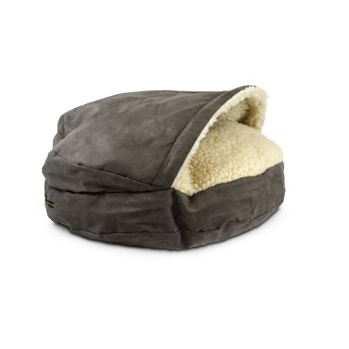 Snoozer Luxury Orthopedic Cozy Cave Pet Bed, Large, Dark Chocolate