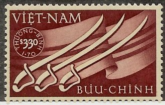 South Vietnam Stamps - 1952, Scott B2, Sabers & Flag, MNH, F-VF by Great Wall Bookstore, Las Vegas