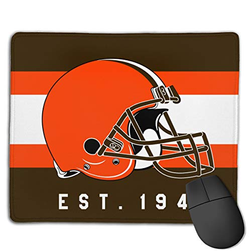 Marrytiny Custom Colourful Mouse Pad Cleveland Browns Football Team Natural Rubber Mousepad Stitched Edges - 7.08x8.6 ()