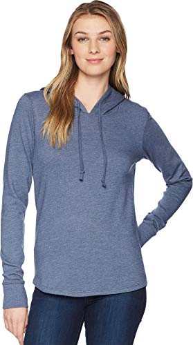 - Alternative Women's Cozy Vintage Heavy Knit Pullover Hoodie, Admiral Blue Small