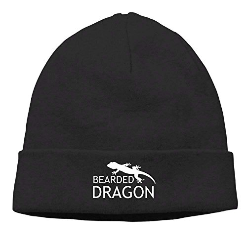 Fierce Men Beanie Bearded Lizard Dragon Black Knit Adults Cap Women Hat Skull Beanie qgqtrw0
