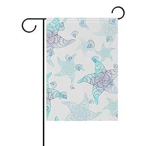 bennigiry estrella de mar poliéster banderines de jardín 12X 18inch, bandera de Jardín de temporada para al aire libre bandera decoración para boda, Multicolor, 12x18(in)