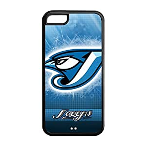 Perfectly Designed iPhone 5C TPU Cover Case with Baseball Toronto Blue Jays Design Background-by Allthingsbasketball