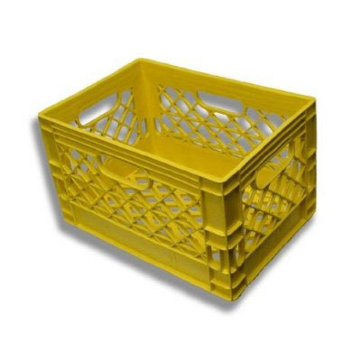 Authentic 19x13x11 6 Gallon 24 Quart Rectangular Dairy Milk Crate (YELLOW)