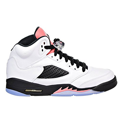 Jordan Air 5 Retro GG Big Kids Shoes White/Sunblush/Black 440892-115 (5.5 M US) by Jordan
