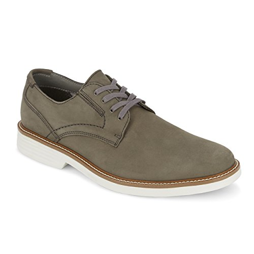 - G.H. Bass & Co. Mens Madison Leather Oxford Shoe with NeverWet, Dark Grey, 9 M