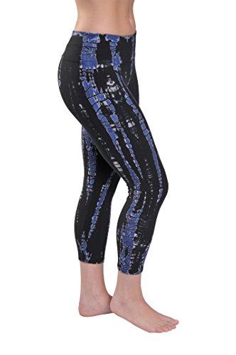 Hard Tail flat waist capri pants (midnight tie dye) (small)