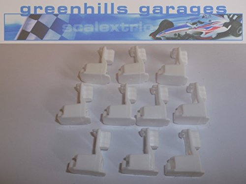 G1056 New Barrier Support Posts // Clips x 10 Greenhills Scalextric Carrera Go!!