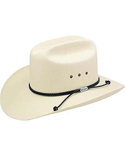 Stetson Men's Carson 10X Shantung Straw Cowboy Hat Natural 7 3/8
