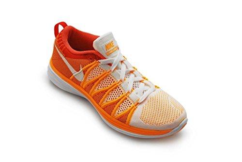 Nike 620465 011 Flyknit Lunar2 Scarpe Sportive Da Uomo - Corsa Bianco Arancio