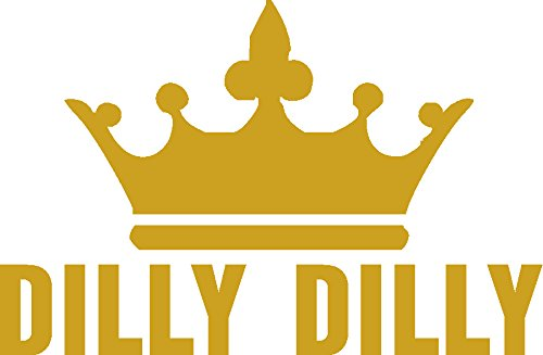 dilly dilly gold block , (cut vinyl, NOT 1 piece sticker), I Make Decals ®, funny, humor, Hard Hat, lunch box, tool box, Helmet Stickers - On Top Guy A Please To How