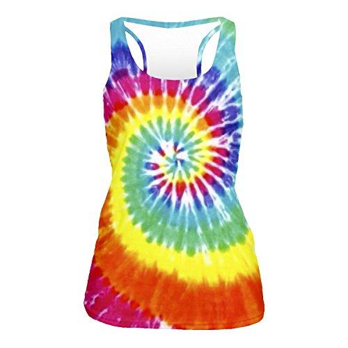 Fringoo - Camiseta sin mangas - para mujer Tie Dye - Vest