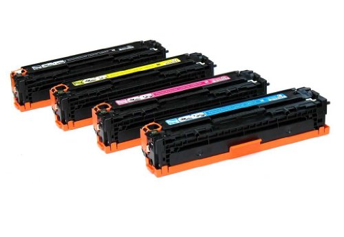 Global Cartridges Compatible Toner Cartridge Replacement for HP 125A ( Black,Cyan,Magenta,Yellow , 4-Pack ) (Cp1210 Laserjet Color Hp)