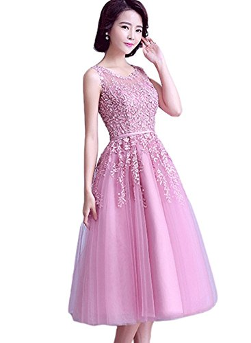 Lila Medium Blau Weiblich kleidungstücke Abend Ball Hochzeit Party emmani ärmellos Damen Heimkehr Rosa New Länge Dark Celebrity Cocktail Rose Garn Kleider Damen Abendkleider Net w4R0qFx