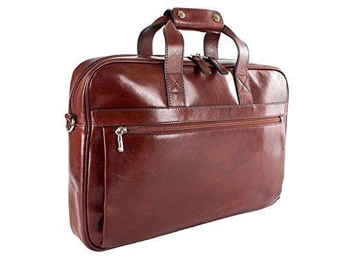 Briefs Bosca Leather - Bosca Old Leather Single Gusset Stringer Bag (Dark Brown)