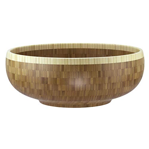 Totally Bamboo Classic Extra-Large Bamboo Serving Bowl, 16