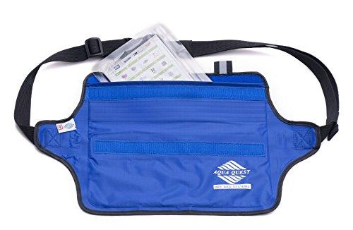 41%2BYIFCFg8L - Aqua Quest AQUAROO Blue Waterproof Running Belt Hidden Wallet for Boating, Kayaking, Biking, Jogging