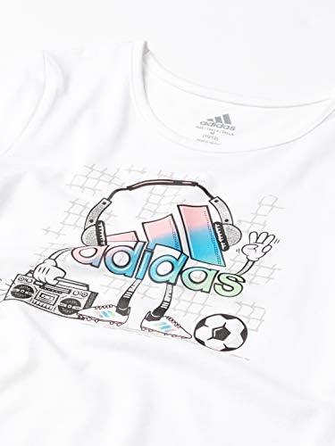adidas Girls' Short Sleeve Scoop Neck Tee T-Shirt 41 2BYINlrLVL
