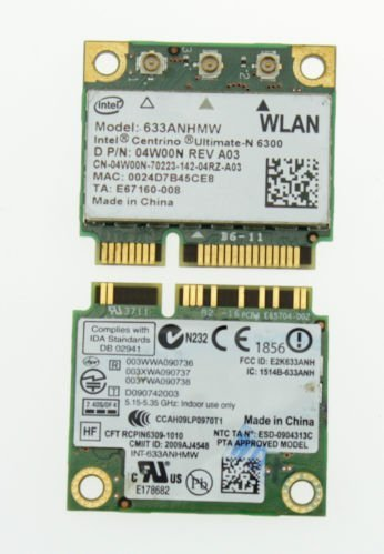 Del Latitude E6520 E6510 E6420 Intel Ultimate-N 6300 Wireless WLAN Mini Wifi Card - 4W00N by CENTRINO