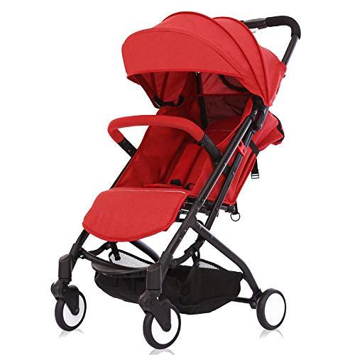 CDREAM Cochecito De Bebé Plegable Carrito De Bebé Silla De Paseo 0-36 Meses MAX 25 Kg Compacta Y Manejable Ligera,Red