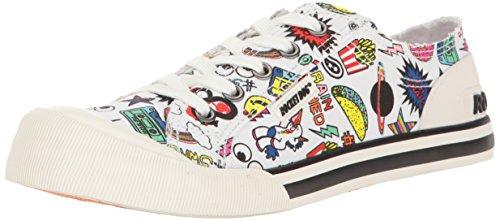 Women's Fashion Jazzin Cotton Sneaker Dog White Swag Rocket Multi p5y1cq