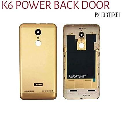 sale retailer 821df 9e18f PS FORTUNET Original Lenovo K6 Power Battery Door Back: Amazon.in ...