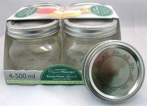 - Bernardin Collection Elite Mason Jars - 500 mL - Swirls - Low