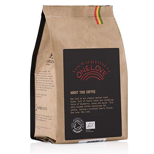 One Love De Marley Coffee Granos De Cafe Organico Bio Tostado Medio De La Familia De Bob Marley 227 G Cafe En Grano