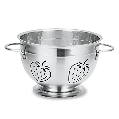(Supreme Housewares Stainless Steel Colander, Medium, Strawberry)