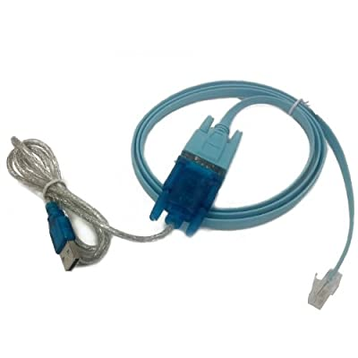 HDE USB to Serial Interface Cable with Serial to RJ45 Console Adapter Cable for Cisco Routers from HDE