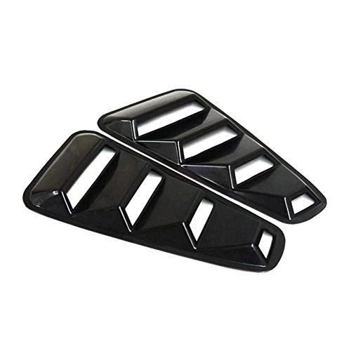 2Pcs 1/4 Quarter Black Side Window Louvers Scoop Cover Vent Fit for 2005-2014 Ford Mustang,Ford Mustang 1/4 Quarter Black Side Window Louvers Scoop Cover Vent GT