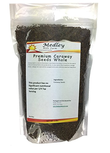 Premium Caraway Seeds Whole 1 Lb by Medley Hills Farm