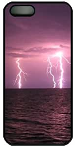 Lightning Striking Water PC Black Case for iphone 4/4S