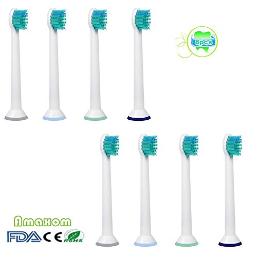 Jager Costume For Sale (Amaxom Premium Compact Replacement Toothbrush Heads,replaces Philips Sonicare HX6024/HX6023 ProResults Compact,Standard Size,8 Pcs(2-pack),)