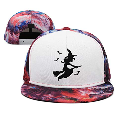 Pink Walpurgis Night Witches Flying Vector Unisex Stylish All Cotton Trucker Cap Fitted Hip Hop Snapback Hats